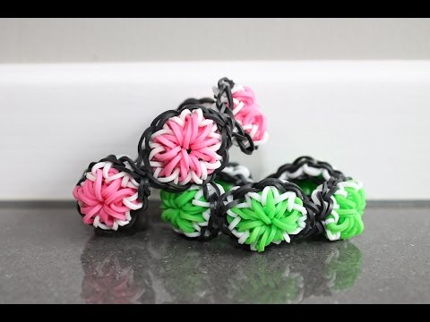 Rainbow Loom Nederlands, Citrus armband, rondom, full, 1 loom