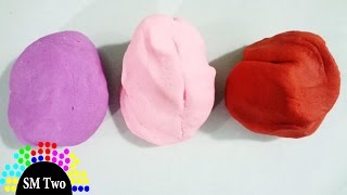 How to make play doh with Flour, oil, Salt at home, No Cooking