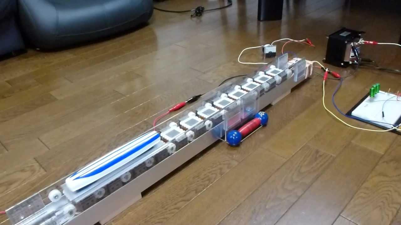 ... linear motor car 工作 模型 - YouTube : 小学生夏休み自由研究工作 : 夏休み