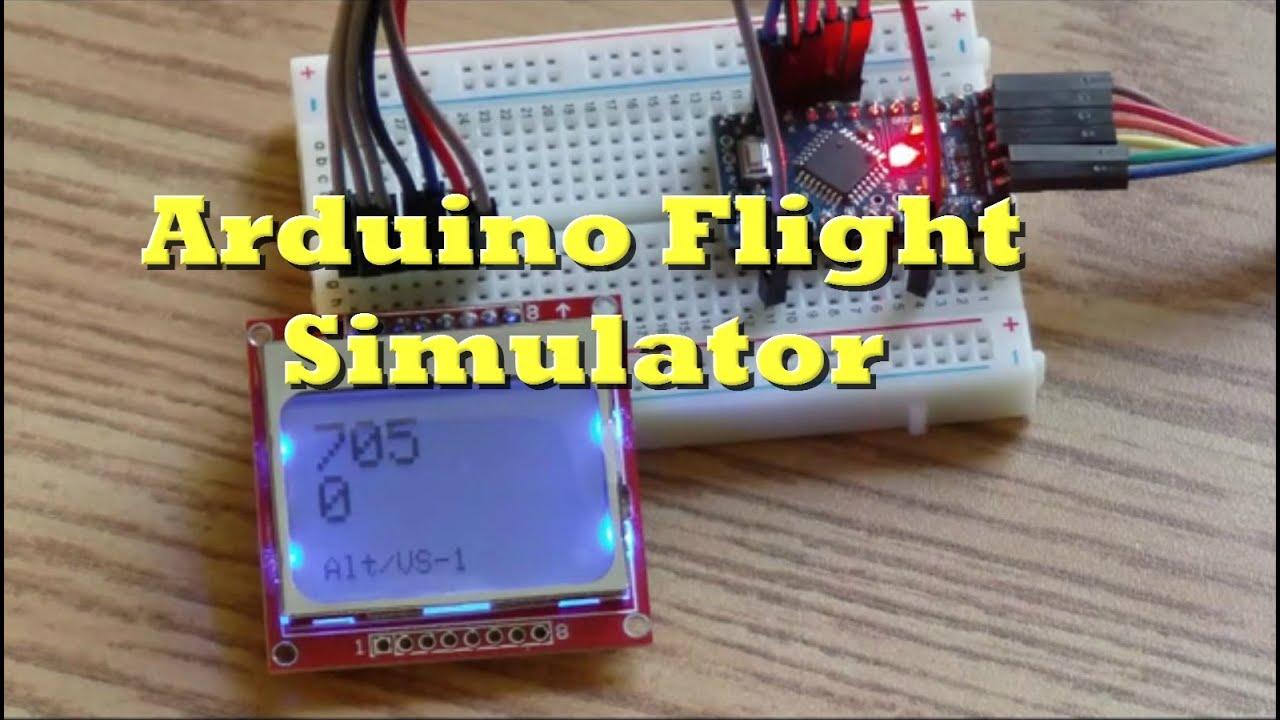Flight simulator arduino cabin pressure panel part