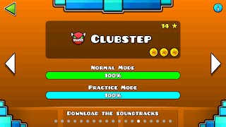 Clubstep 100% all coins Level 14- Geometry Dash
