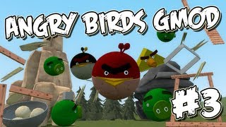 Garrys Mod Angry Birds Part 3 - Crazy Cannons