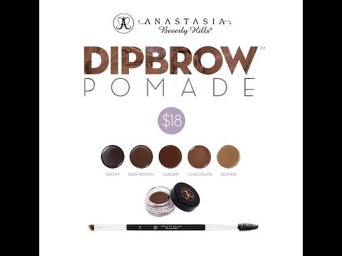 REVIEW   SWATCHES   DEMO (Tutorial) of NEW Anastasia Dipbrow Pomade