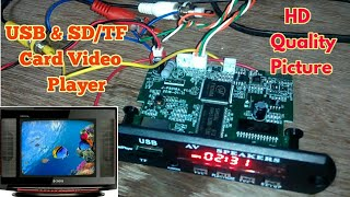 Make Best USB & TF or SD Card Video Player for your Old CRT TV. It supports All Video format (MP5)