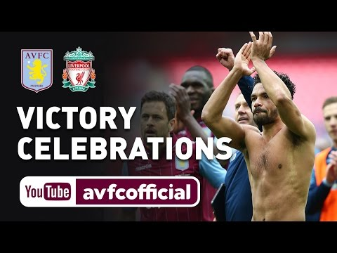 Aston Villa 2 Liverpool 1: Watch the club cam view as the players stream onto the Wembley field in celebration