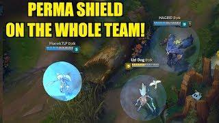PERMA SHIELD ON THE WHOLE TEAM!! Full AP JANNA - URF! [ League of Legends ]