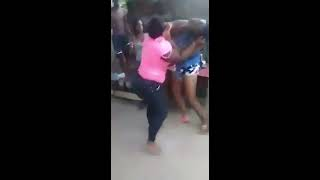 Jamaican ladies fighting really rough and exposed each other's body