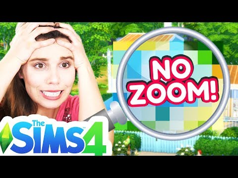 NO Zoom or Rotate Build Challenge... failure [ The Sims 4 ]