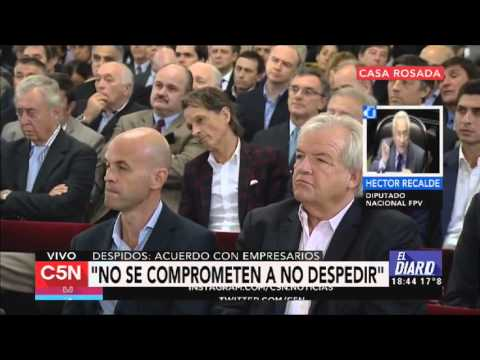 """Recalde calificó de """"engañoso"""" el acuerdo entre Macri y empresarios"""