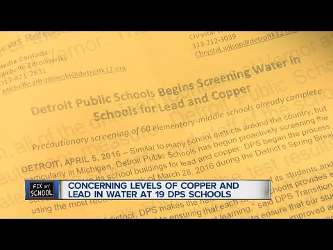 Concerning levels of lead and copper in Detroit schools