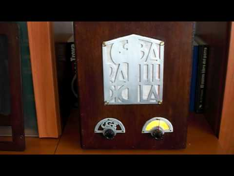RADIO BALILLA AUTOCONSTRUIDO-REPLICA-OLD RADIO-RADIO ANTIGUA