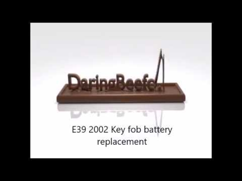 BMW E39 5 Series key fob battery replacement