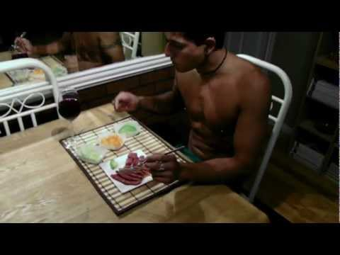 HD Serious Version  Eating Raw Meat!!! Uncooked Steak Raw Diet Food