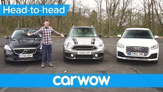 Audi Q2 vs MINI Countryman vs Volvo V40 XC - which is the best small SUV? | Head2Head