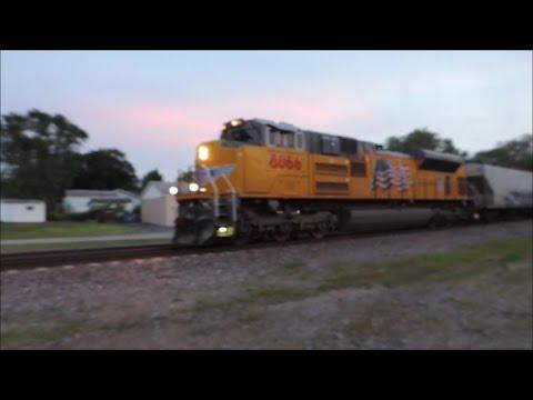 Fast Union Pacific ethanol train heads through Dixon IL