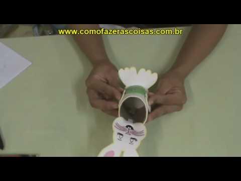 Como fazer um coelho da Páscoa de sucata - ARTESANATO