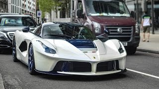 ONE of ONE blue and white Custom LaFerrari loud sounds in London!