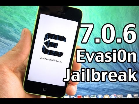 How To Jailbreak iOS 7.0.6 UNTETHERED iPhone 5S. 5C. 5. 4S. 4. ALL iPads & iPod 5G - Evasi0n 1.0.6