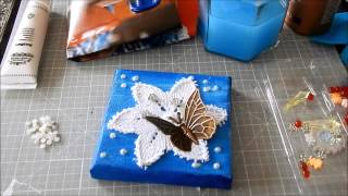 °Tutorial° - Mini Mixed Media Leinwand
