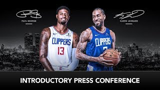 Kawhi Leonard & Paul George Introductory Press Conference