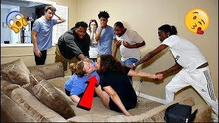 CAUGHT KISSING YOUR GIRLFRIEND IN FRONT OF COMPANY PRANK!!!
