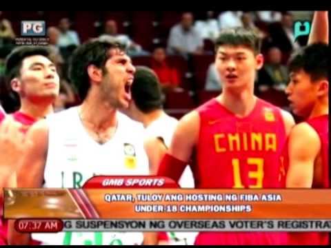 Sports lang: Qatar, tuloy ang hosting ng FIBA Asia Under-18 Championships [08|05|14]
