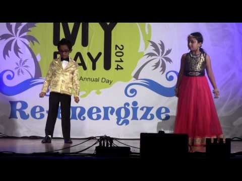 Eshwar & Saanvis group dance - IGATE MY DAY 2014 - Chalthe Chalthe...