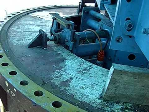 In-situ maching of a 3.5m crane pedestal