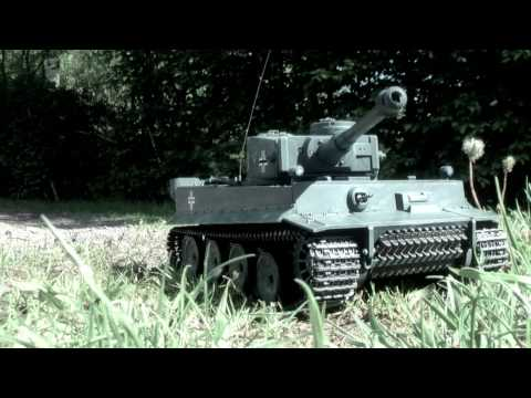 Heng Long Tiger 1/16 RC Tank - German Tiger Panzer Test Drive