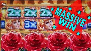 ★MEGA BIG WIN★Sparkling Roses Slot Machine Bonus ★HUGE WIN★ & Ninja Lady Slot Bonus Won! KONAMI SLOT