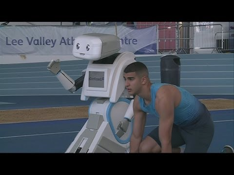 Olympic sprinter Adam Gemili loses race against robot