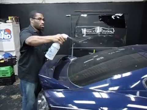 DIY Window Tint Removal off Rear Window at 215 Motoring Philadelphia Pa Part 1
