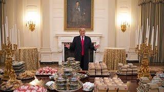 'Great American food', Trump trakteert kampioenen op snackbuffet - RTL NIEUWS