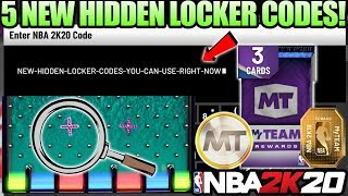 5 NEW HIDDEN LOCKER CODES YOU CAN USE RIGHT NOW FOR FREE REWARDS IN NBA 2K20 MYTEAM