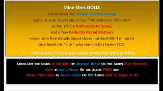 "3 Nuggets of Ore: ""In the Dust"" is ""Gold"" and ""Better Than Gold"" is Wisdom"