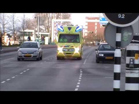 ***Primeur, Special & Britse Sirene*** Ambulance 03-161 en 03-102 met spoed door Groningen Stad