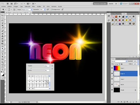 Como hacer un Texto de Neón con Photoshop- Fácil -
