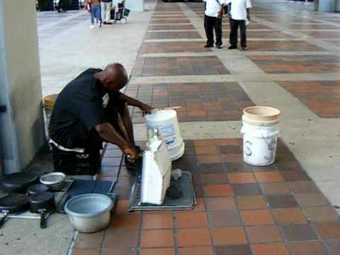 Pots and Pans Drum @ Government Center Station - Miami, FL