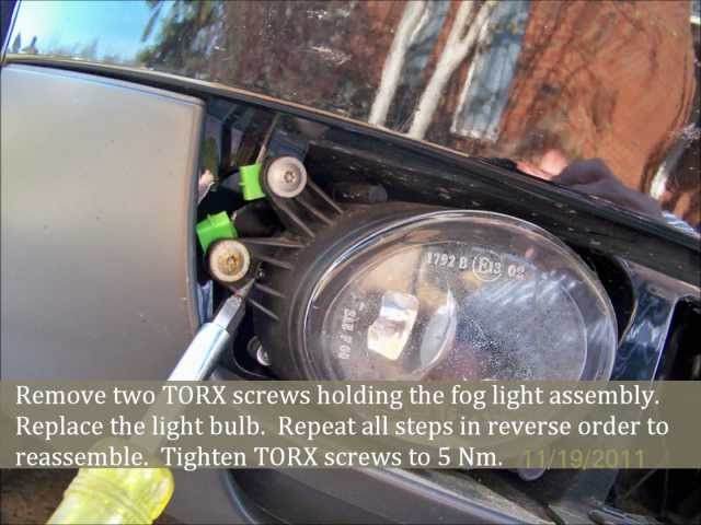 Audi A4 fog light bulb replacement - YouTube