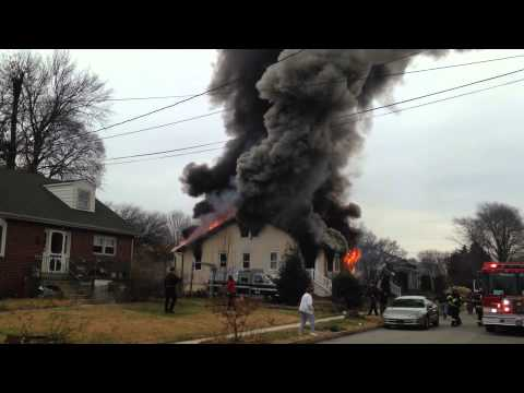 Early video: 2-alarm house fire in Del.