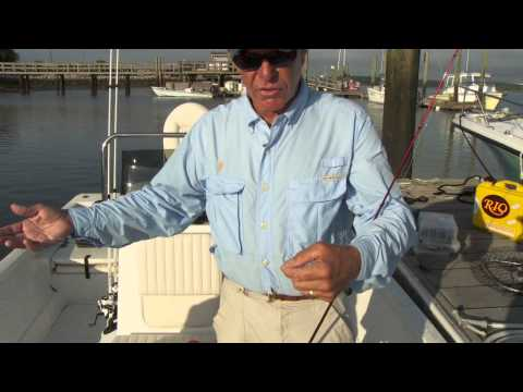Tying a spider hitch knot