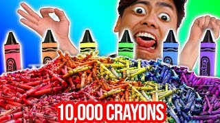Mixing Together ALL My 10,000 Crayons Into GIANT Crayons ~ Wengie Inspired