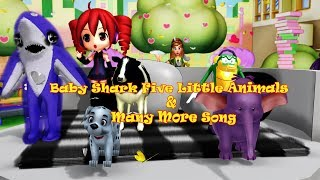 Baby Shark Five Little Animals & Many More Song