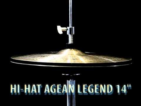 "Agean Legend 14"" Hi-Hat cymbals charleyston"