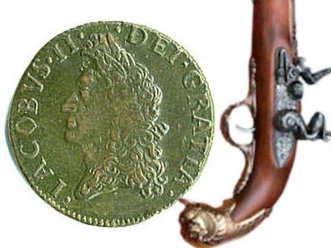 1690 Irish Gun Money James II 17th Century Half-Crown May Williamite War Irish Coin Token
