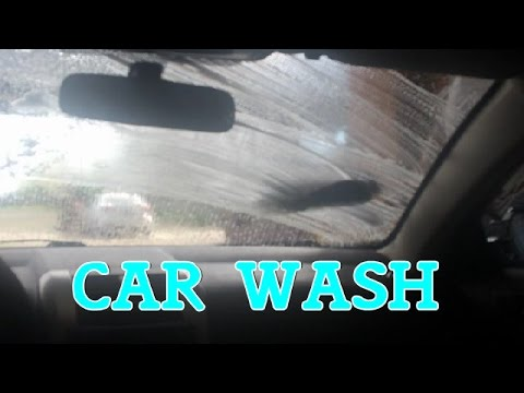 This guy is washing his car when this kid is recording