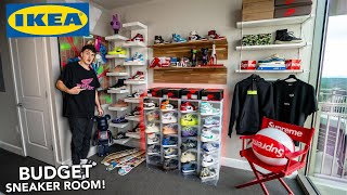 Building The Ultimate BUDGET Sneaker Room! (IKEA SETUP!)