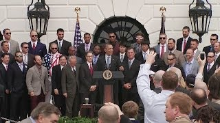 The 2013 World Series Champion Boston Red Sox Visit the White House  4/1/14 (Sports)