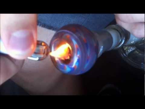 Smoking a nice wax bowl with blue dream