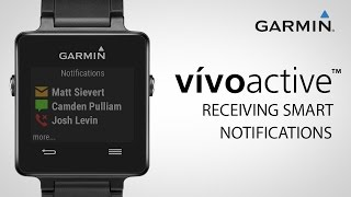 Garmin vívoactive: Receiving Smart Notifications